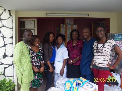 Some Praiseworld Radio members, friends and Heritage Orphange Home officials