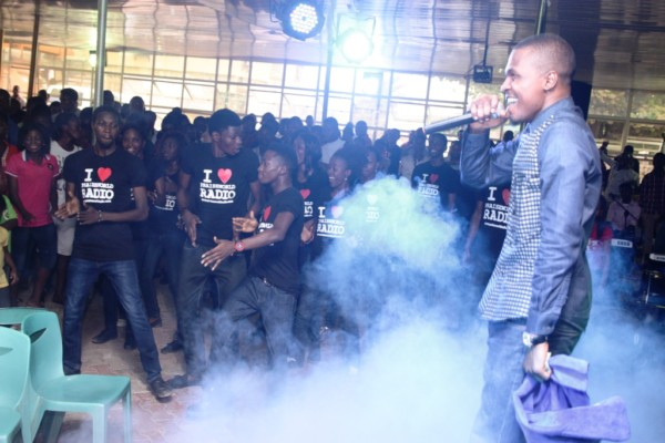 TOLA rocking the stage during Praise Party, Abeokuta