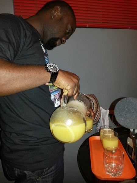 A'Cube serving juice.