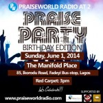 Praiseworld Radio To Celebrate 2nd Anniversary with Praise Party on June 1, 2014
