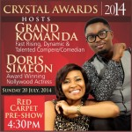 BUZZ: Crystal Awards 2014 Hosts and Performing Artistes Revealed!