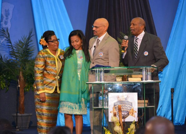 The new senior pastor of Bahamas Faith Ministries, Dr. David Burrow and his family (Photo: Troy Edward Clarke)