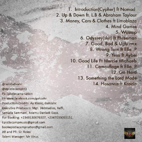 odyssey tracklist(L)