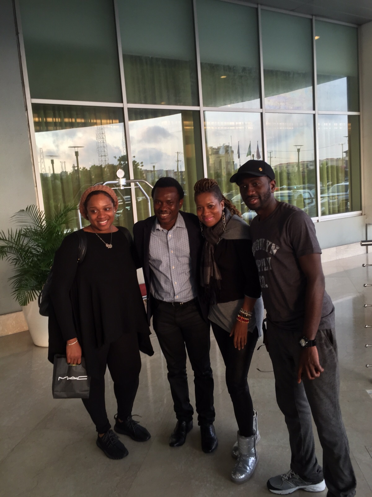 Kierra with Manager Cynthia, Tim (CEO, Tehila Records), and Uche Agu