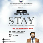UNILAG Stand Up!!! Spirit Of David Presents #STAY With Cobhams   June 19th