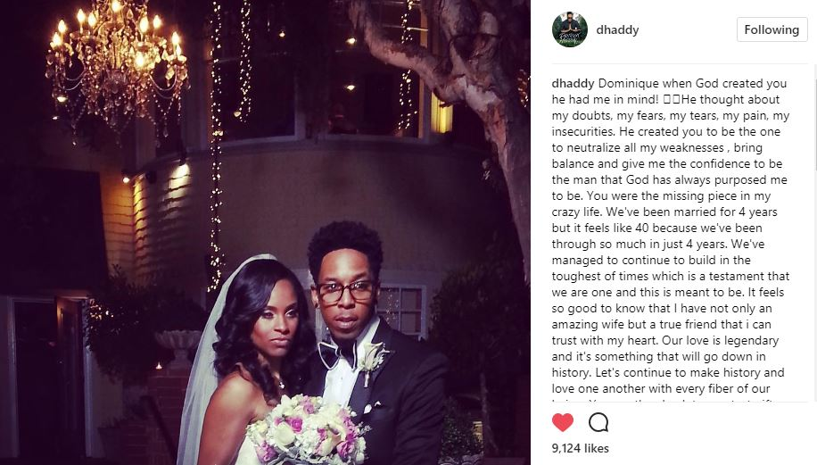 Happy Wedding Anniversary Deitrick and Dominique Haddon